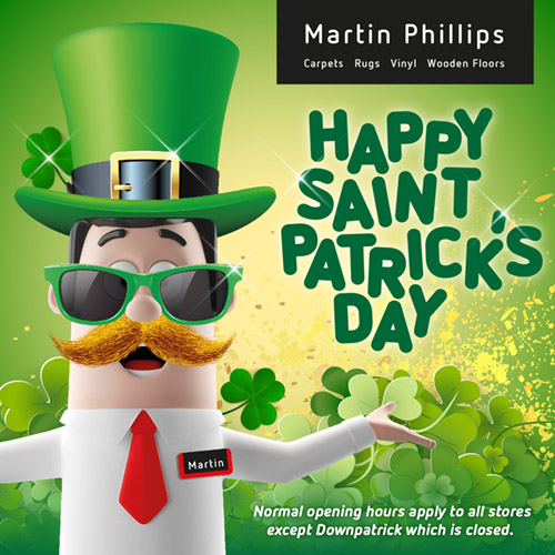 Martin Phillips Social Media - St Patricks Day Post