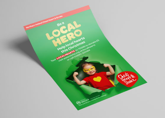 Northern Ireland Chest Heart and Stroke Leaflet marketing